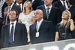 Barcelona's Sandro Rosell, AC Milan's Galliani and Barbara Berlusconi during Champions League match on september 13th 2011...Photo: Cesar Cebolla / ALFAQUI
