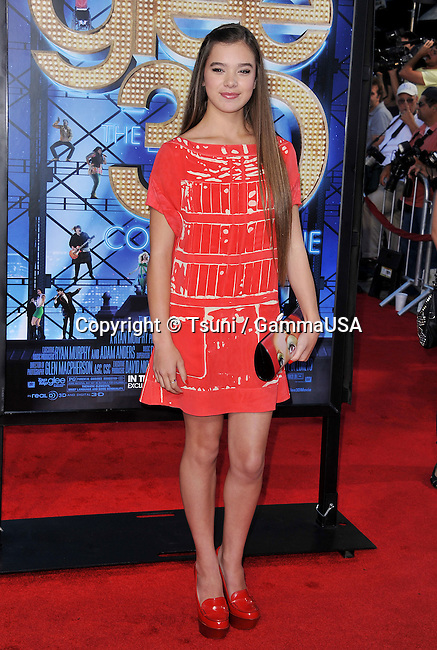 Hailee Steinfeld at the GLEE The 3D Concert Movie Premiere at the Westwood Village Theatre In Los Angeles.