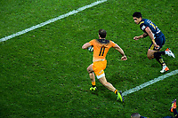 Ramiro Moyano runs for the tryline during the Super Rugby match between the Highlanders and Jaguares at Forsyth Barr Stadium in Dunedin, New Zealand on Saturday, 11 May 2019. Photo: Dave Lintott / lintottphoto.co.nz
