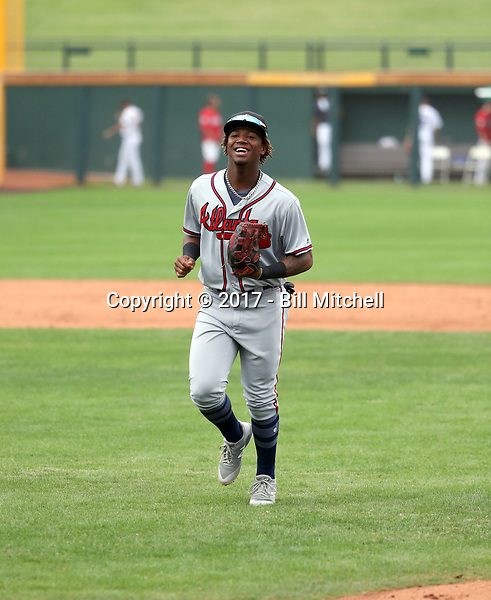Ronald Acuna - Peoria Javelinas - 2017 Arizona Fall League (Bill Mitchell)