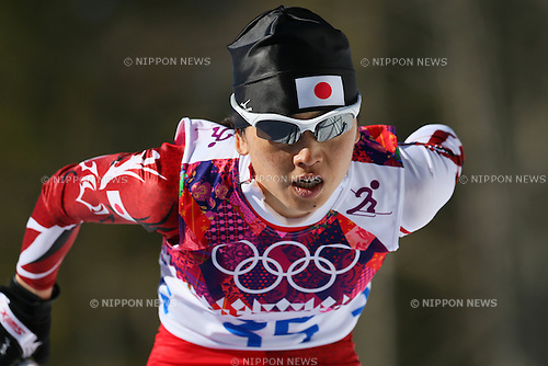 Masako Ishida (JPN), <br /> FEBRUARY 13, 2014 - Cross Country Skiing : <br /> Women's 10km <br /> at &quot;LAURA&quot; Cross-Country Ski &amp; Biathlon Center <br /> during the Sochi 2014 Olympic Winter Games in Sochi, Russia. <br /> (Photo by Yohei Osada/AFLO SPORT)