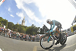 Astana rider climbs Notre-Dame de la Garde during Stage 20 of the 104th edition of the Tour de France 2017, an individual time trial running 22.5km from Marseille to Marseille, France. 22nd July 2017.<br /> Picture: ASO/Bruno Bade | Cyclefile<br /> <br /> <br /> All photos usage must carry mandatory copyright credit (&copy; Cyclefile | ASO/Bruno Bade)