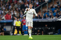 Valverde of Real Madrid during the match between Real Madrid vs Viktoria Plzen of UEFA Champions League, Group Stage, Group G, date 3, 2018-2019 season. Santiago Bernabeu Stadium. Madrid, Spain - 23 OCT 2018.