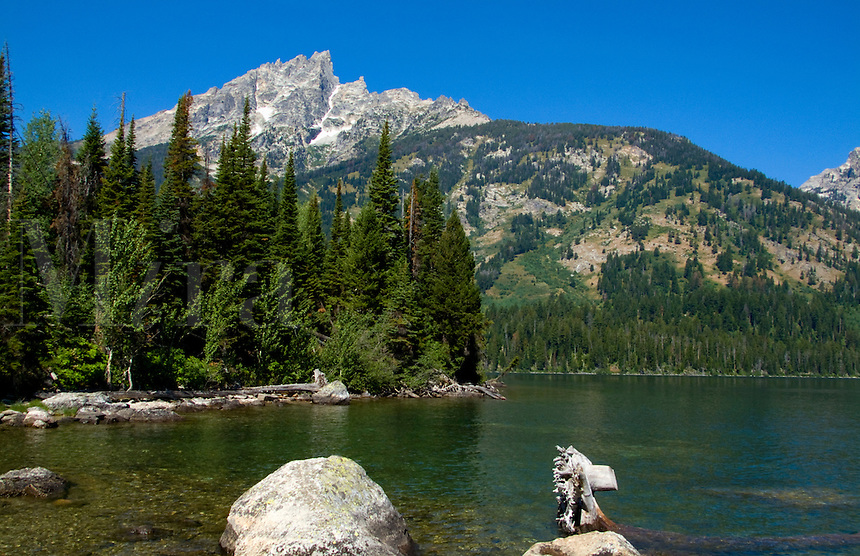 Mountains at  Colter Bay, Jackson Hole, Wyoming, USA
