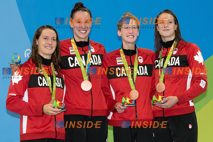 4x100 freestyle women relay<br /> Team Canada MAINVILLE Sandrine, VAN LANDEGHEM Chantal, 	RUCK Taylor Madison,  OLEKSIAK Penny<br /> Rio de Janeiro 06-08-2016 XXXI Olympic Games <br /> Olympic Aquatics Stadium <br /> Swimming finals 06/08/2016<br /> Photo Giorgio Scala/Deepbluemedia/Insidefoto