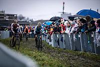 Thibau Nys (BEL) and Dario Lillo (SUI)<br /> <br /> Men's Junior race<br /> UCI 2020 Cyclocross World Championships<br /> Dübendorf / Switzerland<br /> <br /> ©kramon