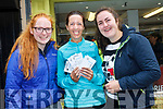 Thrilled Ed Sheeran fans get the much coveted tickets after queuing overnight. <br /> Left to right Clara Moran, Laraine O'Donnell and Casey O'Donnell Tralee.