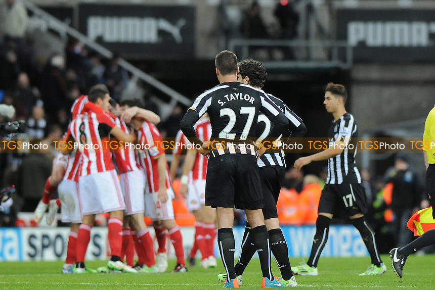 A dejected Steven Taylor of Newcastle United - Newcastle United vs Sunderland AFC - Barclays Premier League Football at St James Park, Newcastle upon Tyne - 21/12/14 - MANDATORY CREDIT: Steven White/TGSPHOTO - Self billing applies where appropriate - contact@tgsphoto.co.uk - NO UNPAID USE