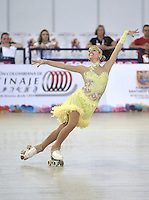 CALI - COLOMBIA - 19 - 09 - 2015: Anna Remondini, deportista de Italia, durante la prueba de Solo Danza Obligatorias Mayores Damas, en el LX Campeonato Mundial de Patinaje Artistico, en el Velodromo Alcides Nieto Patiño de la ciudad de Cali. / Anna Remondini, sportwoman of Italy, during the Compulsory Solo Dance Senior Ladies   test, in the LX World Championships  Figure Skating, at the Alcides Nieto Patiño Velodrome in Cali City. Photo: VizzorImage / Luis Ramirez / Staff.