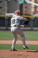 San Francisco Giants relief pitcher Seth Corry (28) prepares to deliver a pitch to the plate during a Minor League Spring Training game against the Cleveland Indians at the San Francisco Giants Training Complex on March 14, 2018 in Scottsdale, Arizona. (Zachary Lucy/Four Seam Images)