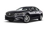 Stock pictures of low aggressive front three quarter view of a 2017 Mazda Mazda6 Prestige Edition 4 Door Sedan