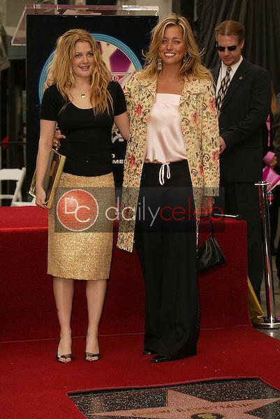 Drew Barrymore and Nancy Juvonen