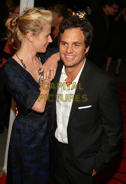 """SUNRISE COIGNEY & MARK RUFFALO.At """"All The Kings Men"""" Press Premiere during the 2006 Toronto International Film Festival held at Roy Thomson Hall, Toronto, Ontario, Canada,10 September 2006..half length leaning on shoulder.Ref: ADM/BP.www.capitalpictures.com.sales@capitalpictures.com.©Brent Perniac/AdMedia/Capital Pictures."""