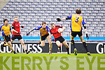 Mark Crowley Kenmare in Action against Keith Kelly  Ballinasloe in the Junior All Ireland Club Final in Croke park on Sunday.
