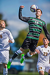 3 October 2015: Binghamton University Bearcat Midfielder Tucker Sandercock, a Senior from Bethlehem, PA, in action against the University of Vermont Catamounts at Virtue Field in Burlington, Vermont. The Bearcats held on to defeat the Catamounts 2-1 in America East conference play. Mandatory Credit: Ed Wolfstein Photo *** RAW (NEF) Image File Available ***