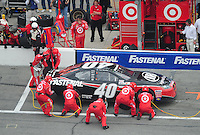 Feb 9, 2008; Daytona, FL, USA; ARCA RE/MAX Series driver Dario Franchitti (40) pits during the ARCA 200 at Daytona International Speedway. Mandatory Credit: Mark J. Rebilas-US PRESSWIRE