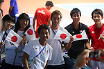 Japan team group (JPN),<br /> AUGUST 20, 2018 - Tennis : <br /> Men's Doubles Round of 32<br /> at Jakabaring Sport Center Tennis Court <br /> during the 2018 Jakarta Palembang Asian Games <br /> in Palembang, Indonesia. <br /> (Photo by Yohei Osada/AFLO SPORT)
