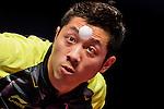 Xin Xu of China vs Yuto Muramatsu of Japan at their Men's Singles Quarter Final match during the Seamaster Qatar 2016 ITTF World Tour Grand Finals at the Ali Bin Hamad Al Attiya Arena on 10 December 2016, in Doha, Qatar. Photo by Victor Fraile / Power Sport Images