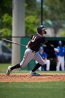Jupiter Hammerheads Connor Grant (13) at bat during a Florida State League game against the Dunedin Blue Jays on May 16, 2019 at Jack Russell Memorial Stadium in Clearwater, Florida.  Dunedin defeated Jupiter 1-0.  (Mike Janes/Four Seam Images)