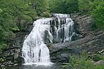 Bald River Falls, a scenic water fall in western North Carolina Blueridge mountains