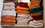 AMSTERDAM - Handdoeken in Kleedkamer Amsterdam Old Course AOC. COPYRIGHT KOEN SUYK