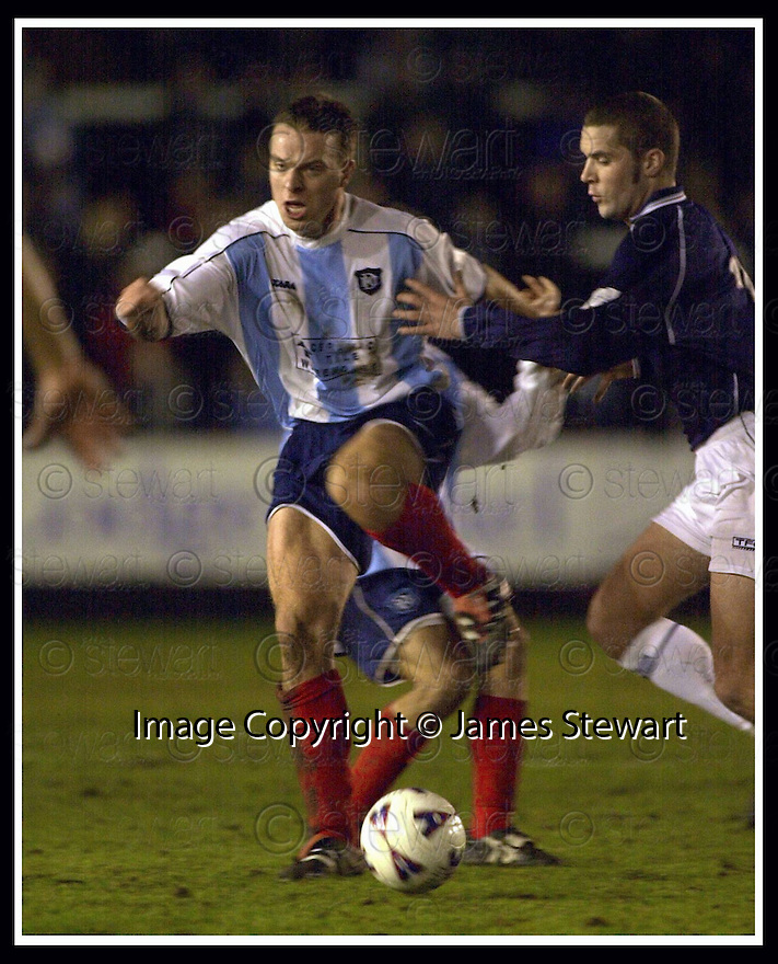 16/01/2002                 Copyright Pic : James Stewart .Ref :     .File Name : stewart-falkirk v dundee 10.GAVIN RAE GOES PAST IAN MORRIS....James Stewart Photo Agency, Stewart House, Stewart Road, Falkirk. FK2 7AS      Vat Reg No. 607 6932 25.Office     : +44 (0)1324 630007     .Mobile  : + 44 (0)7721 416997.Fax         :  +44 (0)1324 630007.E-mail  :  jim@jspa.co.uk.If you require further information then contact Jim Stewart on any of the numbers above.........