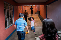 Vicky Delgadillo's grandchildren play with each other at a birthday party and family gathering at the house of Vicky's daughter, Cinthia Hern&aacute;ndez Delgadilo's at her home in Xalapa, Mexico on November 4, 2017. <br /> Photo Daniel Berehulak for The New York Times