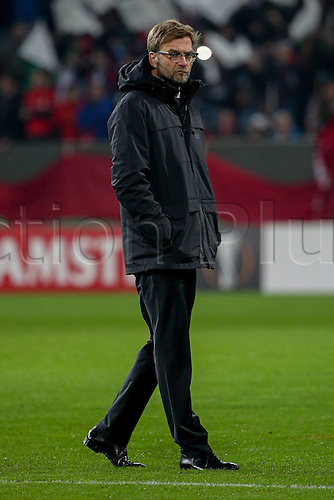 18.02.2016. Augsburg, Germany. UEFA Europa League football. Augsburg versus Liverpool FC.   Trainer Juergen Klopp (FC Liverpool)