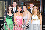DEBS: Enjoying a great time at the St Joesph's Presentation, Castleisland debs at the Abbeygate hotel, Tralee on Friday l-r: Ailish Conway, Sam Lloyd, Melissa O'Grady, Christina Moore, Dane Fitzpatrick and Ashling Feehan.