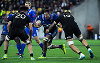France's Mathieu Babillot takes the ball up during the Steinlager Series international rugby match between the New Zealand All Blacks and France at Westpac Stadium in Wellington, New Zealand on Saturday, 16 June 2018. Photo: Dave Lintott / lintottphoto.co.nz
