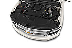 Car Stock 2015 Chevrolet Suburban 4WD 1500 LTZ 5 Door Suv Engine high angle detail view