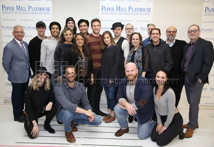 """The cast & creative team during the meet the cast photo call for the Paper Mill Playhouse production of  """"Benny & Joon"""" at Baza Dance Studios on 3/21/2019 in New York City."""
