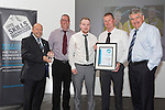 17/07/2015 The IRTE Skills Challenge 2015 prize-giving takes place at The National Motorcycle Museum, Birmingham. Team FirstGroup wins the IRTE Outstanding Team Award Presented by (left) Gerry Fleming and Moir Lockhead (far right). Receiving the award are (left to right) Ray Silcox, Andrew Howie and Tim Laws-Chapman.