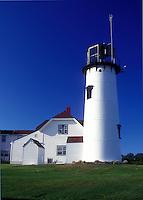 AJ1509, lighthouse, Cape Cod, Massachusetts, Chatham Light in Chatham along the Atlantic Coast, Massachusetts.