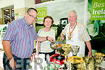 David Darby, from Keel, Castlemaine with John-Paul and Kathleen O'Connor from Sasta Sausages at  Taste of Tralee in  Manor West Retail Park on Saturday
