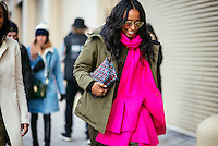 Shiona Turini attends Day 4 of New York Fashion Week on Feb 16, 2015 (Photo by Hunter Abrams/Guest of a Guest)