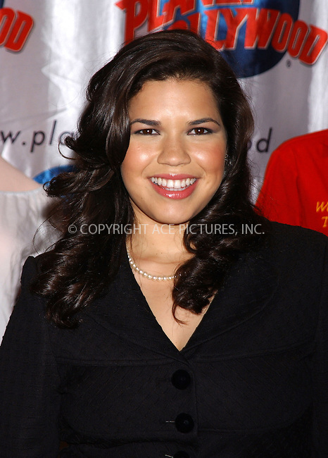 WWW.ACEPIXS.COM . . . . . ....NEW YORK, MAY 25, 2005....America Ferrera at a promotional event held at Planet Hollywood to promote her new movie 'Sisterhood of the Traveling Pants.'....Please byline: KRISTIN CALLAHAN - ACE PICTURES.. . . . . . ..Ace Pictures, Inc:  ..Craig Ashby (212) 243-8787..e-mail: picturedesk@acepixs.com..web: http://www.acepixs.com