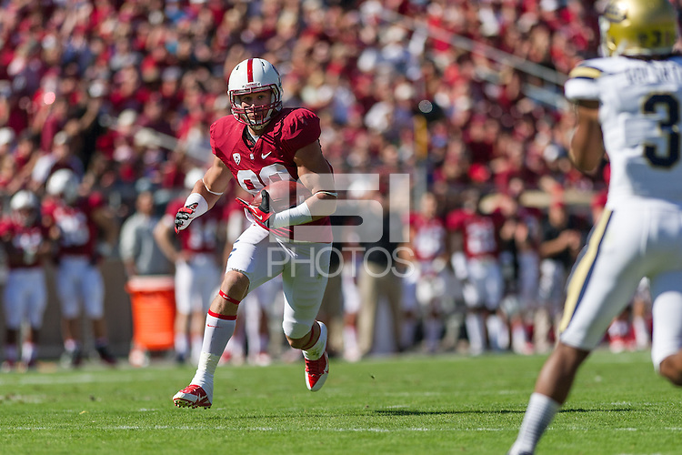 STANFORD, CA - OCTOBER 19, 2013:  Devon Cajuste during Stanford's game against UCLA. The Cardinal defeated the Bruins 24-10.