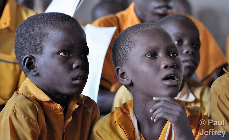 Students in class in a United Methodist primary school in Yei, Southern Sudan. NOTE: In July 2011 Southern Sudan became the independent country of South Sudan.