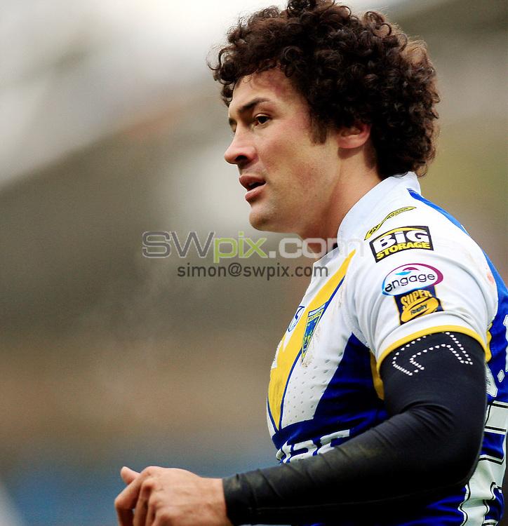 Pix: Chris Mangnall /SWPix.com, Rugby League, Super League. 28/02/10 Huddersfield Giants v Warrington Wloves....picture copyright>>Simon Wilkinson>>07811267 706>>....Warrington's (27) Vinny Anderson