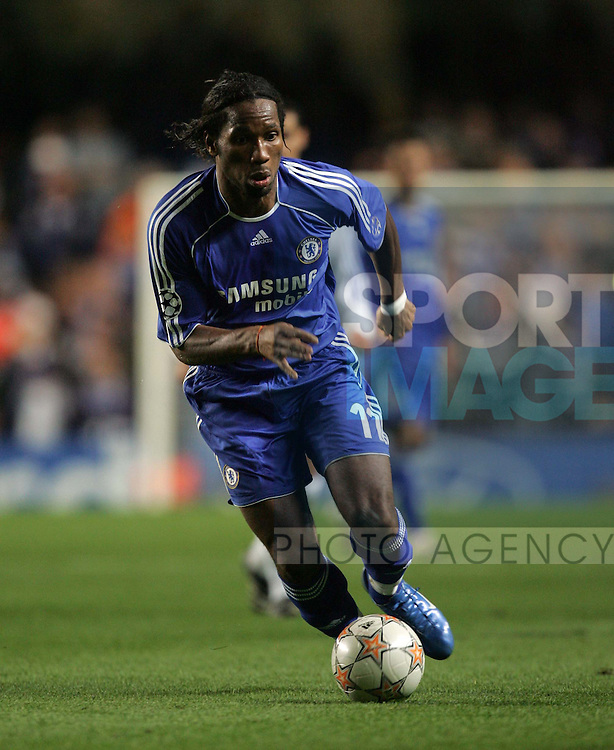 Chelsea's Didier Drogba in action