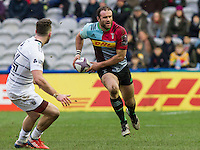 Jamie Roberts in action, Harlequins v Cardiff Blues in a European Challenge Cup match at Twickenham Stoop, Twickenham, London, England, on 17th January 2016