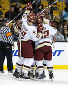 - The Boston College Eagles defeated the Harvard University Crimson 6-0 on Monday, February 1, 2010, in the first round of the 2010 Beanpot at the TD Garden in Boston, Massachusetts.