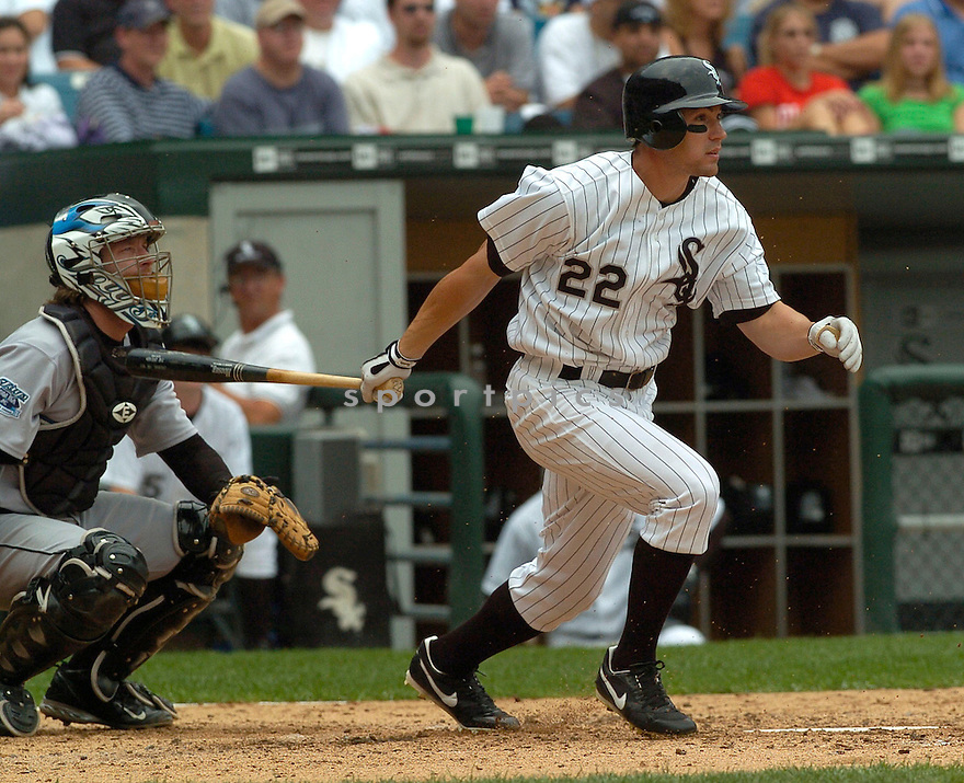 Scott Posednik, of the Chicago White Sox, in action against the Boston Red Sox, on August 4, 2005...White Sox  win 5-4...David Durochik / SportPics