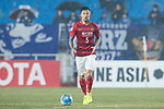 Guangzhou Defender Zhang Linpeng in action during the AFC Champions League 2017 Group G match Between Suwon Samsung Bluewings (KOR) vs Guangzhou Evergrande FC (CHN) at the Suwon World Cup Stadium on 01 March 2017 in Suwon, South Korea. Photo by Victor Fraile / Power Sport Images