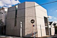 Unusual concrete bunker design for Tokyo home.Looks more like a missile silo.