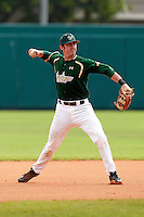 USF Bulls third baseman Daniel Rockhold #18 during a game against the Minnesota Gophers at the Big Ten/Big East Challenge at Al Lang Stadium on February 19, 2012 in St. Petersburg, Florida.  (Mike Janes/Four Seam Images)
