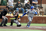 SIOUX FALLS, SD: Nick Smith #2 from South Dakota State University watches the ball for a base hit against North Dakota State University Thursday in Sioux Falls. (Dave Eggen/Inertia)