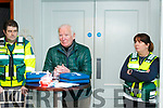 Frank O'Leary centre speaking at the Waterville First Responders open day in the Sea Lodge Waterville on Saturday.