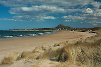 North Berwick Law and Broad Sands near North Berwick, East Lothian